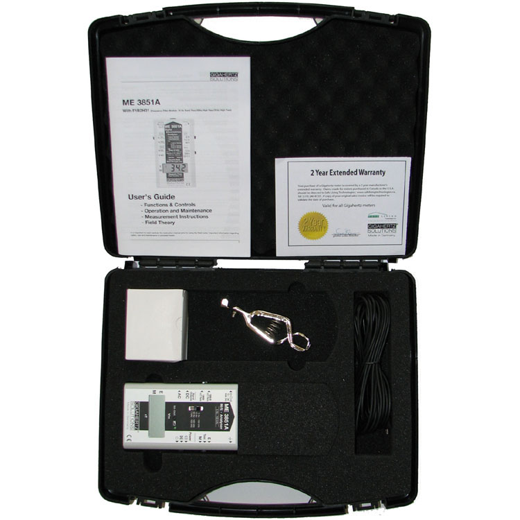 Gigahertz Solutions ME3851A EMF Meter Gauss Meter Electric champs magnétiques